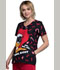 Photograph of Licensed Prints Women's V-Neck Top Daffy Ho Ho Ho TF626-LTAFC