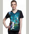 Photograph of Licensed Prints Women's V-Neck Top Count Snoop-ula TF627-PNUL