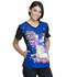 Photograph of Licensed Prints Women V-Neck Top Trolls Party TF627-TOPT