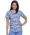 Photograph of Licensed Prints Women's V-Neck Top Jog To The Rhythm TF633-POJO