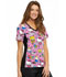 Photograph of Cherokee Licensed Women's V-Neck Knit Panel Top Color Me Hello Kitty TF636-HKCS