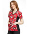 Photograph of Licensed Prints Women's V-Neck Knit Panel Top Heritage Mickey TF636-MKHG