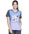 Photograph of Licensed Prints Women V-Neck Top Minions Rainbow TF637-DPMR