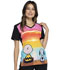 Photograph of Licensed Prints Women V-Neck Top Sunset Charlie Brown TF637-PNTC