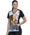 Photograph of Licensed Prints Women V-Neck Top Sesame Friends TF637-SWFR