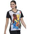 Photograph of Licensed Prints Women's V-Neck Top Sesame Friends TF637-SWFR
