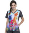 Photograph of Licensed Prints Women V-Neck Top Musical Genius TF637-TOMG