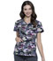 Photograph of Licensed Prints Women's V-Neck Top Jurassic Camo TF638-JWCM