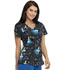 Photograph of Licensed Prints Women V-Neck Top Stroke Of Midnight TF641-PRSO