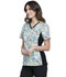 Photograph of Licensed Prints Women's V-Neck Knit Panel Top Alien Life Form TF648-TSAL