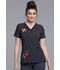 Photograph of Cherokee Licensed Women's V-Neck Top with Contrast Gray TF657-MKTM