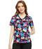 Photograph of Licensed Prints Women's V-Neck Knit Panel Top Donut Even TF695-LHON