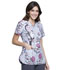 Photograph of Licensed Prints Women's V-Neck Top Check Meowt TF720-SECM