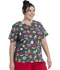 Photograph of ScrubStar Canada Women Women's Flex Printed Top Dunk the Halls WC703X5-DTHA