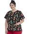 Photograph of ScrubStar Canada Women Women's V-neck Printed Top Happy Who-lidays WC711X4-SEHH
