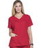 Photograph of ScrubStar Women Women's Brushed Poplin V-neck Top Red WD807-CRED