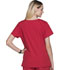 Photograph of ScrubStar Women's Women's Brushed Poplin V-neck Top Red WD807-CRED