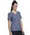 Photograph of ScrubStar Women Women's V-neck Top DECORATED BUTTERFLIES WM729X5-DRBU