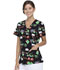 Photograph of ScrubStar Women Women's Mock Wrap Top Santa's Night Flight WM731X5-STNF