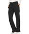 Photograph of WW Revolution Women's Mid Rise Moderate Flare Drawstring Pant Black WW120T-BLK