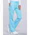 Photograph of WW Revolution Women's Mid Rise Moderate Flare Drawstring Pant Blue WW120-TRQ