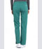 Photograph of Workwear WW Professionals Women's Mid Rise Straight Leg Drawstring Pant Green WW160-HUN