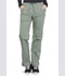 Photograph of WW Professionals Women's Mid Rise Straight Leg Drawstring Pant Green WW160-OLV