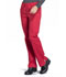 Photograph of WW Professionals Women's Mid Rise Straight Leg Drawstring Pant Red WW160-RED