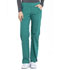 Photograph of Workwear WW Professionals Women's Mid Rise Straight Leg Pull-on Cargo Pant Green WW170-HUN
