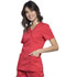 Photograph of WW Revolution Women Mock Wrap Top Red WW610-HOTT