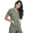 Photograph of WW Revolution Women Mock Wrap Top Green WW610-OLV