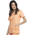 Photograph of WW Revolution Women V-Neck Top Orange WW620-MTHY