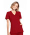 Photograph of WW Originals Women's Mock Wrap Top Red WW650-REDW