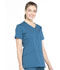 Photograph of Workwear WW Professionals Women Mock Wrap Top Blue WW655-CAR