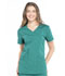 Photograph of WW Professionals Women's Mock Wrap Top Green WW655-HUN