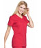 Photograph of Workwear WW Professionals Women Mock Wrap Top Red WW655-RED