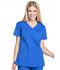 Photograph of Workwear WW Professionals Women's Mock Wrap Top Blue WW655-ROY