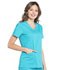 Photograph of Workwear WW Professionals Women's Mock Wrap Top Blue WW655-TLB