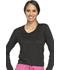 Photograph of WW Core Stretch Women's Long Sleeve Underscrub Knit Tee Black WW660-BLK