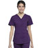 Photograph of Workwear WW Professionals Women's V-Neck Top Purple WW665-EGG