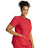 Photograph of Workwear WW Professionals Women V-Neck Top Red WW665-RED