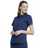 Photograph of WW Revolution Women Hidden Snap Front Collar Shirt Blue WW669-NAV