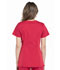 Photograph of Workwear WW Professionals Women's Maternity Mock Wrap Top Red WW685-RED