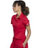 Photograph of WW Revolution Women Tuckable Snap Front Polo Shirt Red WW698-RED