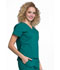 Photograph of WW Professionals Women's Mock Wrap Top Green WW705-HUN