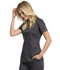 Photograph of WW Revolution Tech Women V-Neck Top Gray WW770AB-PWT