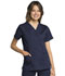 Photograph of WW Revolution Tech Women Mock Wrap Top Blue WW775AB-NAV