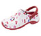 Photograph of Clog Women ZONE Multi Heart with Red Sole ZONE-MHWR