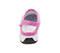 Photograph of Medical Footwear Women's Anywear Injected Clog w/Backstrap Pink,White,Black ZONE-PKWB