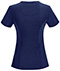 Photograph of Infinity by Cherokee Women's Round Neck Top Blue 2624A-NYPS